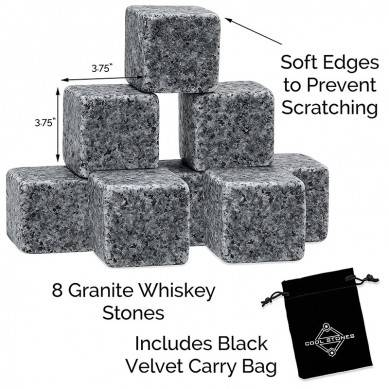 Customized Logo Whiskey Stones Gift Set Reusable Whisky Ice Stones Fast Selling Cheap Products Whiskey Chilling Reusable Party
