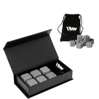 Cheap gift kit Whiskey Stones Gift Set 6 pcs of Natural chilling stone Cooler with Handmade Magnetic Box