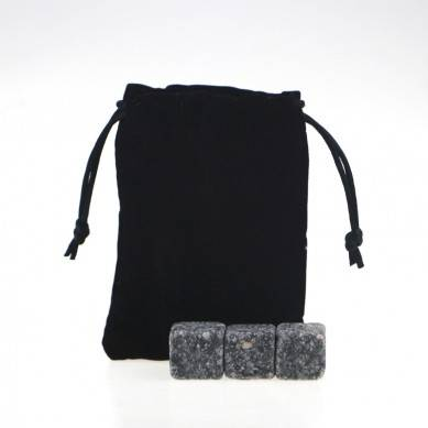 New Arrivals 2019 Natural Chilling Stones set with Black Velvet bag