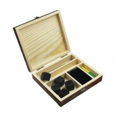New Arrival , Best whiskey stone + Metal Straw + Tong  Whiskey ice cube stones in a Brown Box