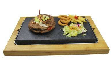 3pcs set Lava Stone Cooking set, SHARE SET Steak Stones, Kitchen oven BBQ serve grill baking stone