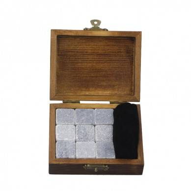 2019 Premium Corporate Gift Set soapstone Whiskey Stone Rock Ice Cube Custom Promotional Gift Set High-end Whiskey Stones Ice Gift Set