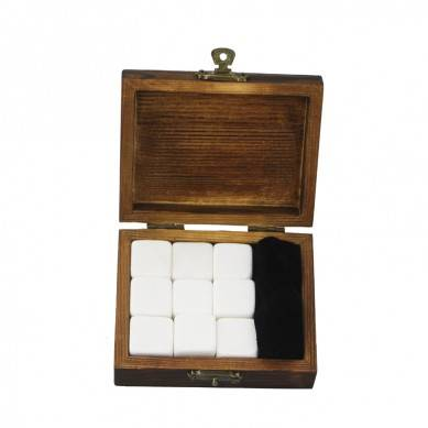 2019 Pearl White Whiskey Stone Rock Ice Cube Custom Promotional Gift Set High-end Whiskey Stones Ice Gift Set