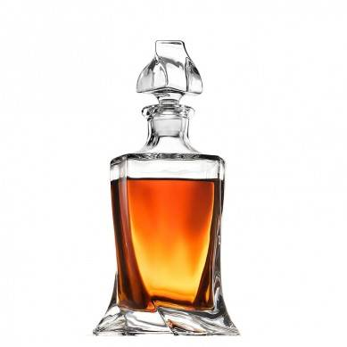 European Style Glass Whiskey Decanter & Liquor Decanter with Glass Stopper, 28 Oz.- With Magnetic Gift Box – Aristocratic Exquisite Design – Glass Decanter for Alcohol Bourbon Scotch