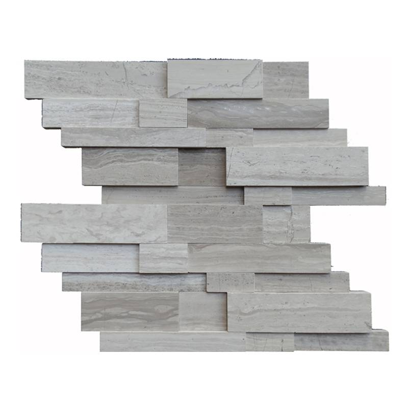 Decorstone24 Wood Grain Marble Trapezoid Mosaic For Kitchen Wall Tiles Featured Image
