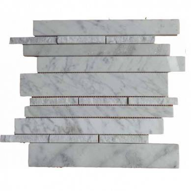 Decorstone24 Wood Grain Marble Trapezoid Mosaic For Kitchen Wall Tiles