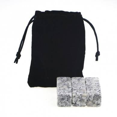 Whiskey Stones with  G603 Chilling rocks , Velvet bag