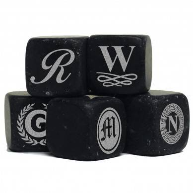 Personalized Whiskey Stones – Custom Engraved Groomsmen Gifts – Monogrammed for Free – Set of 9