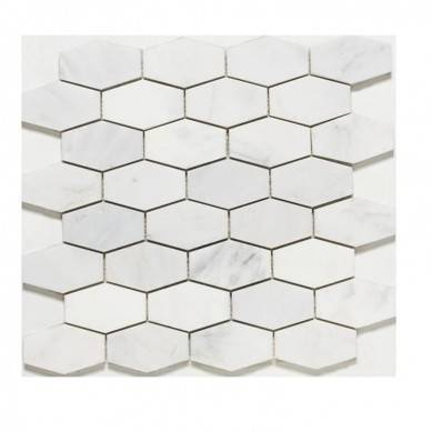 High Quality White Marble Mosaic Carrara Marble Polished Mosaic Tiles for Backsplash ,Marble bathroom floor tiles