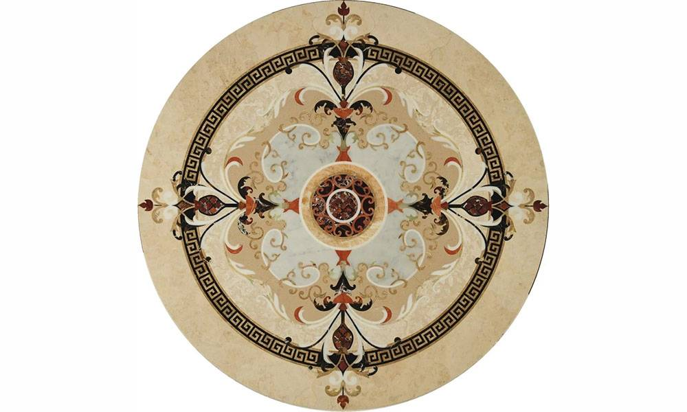 Factory Directly Waterjet  Round Marble Floor Medallions Patterns Featured Image