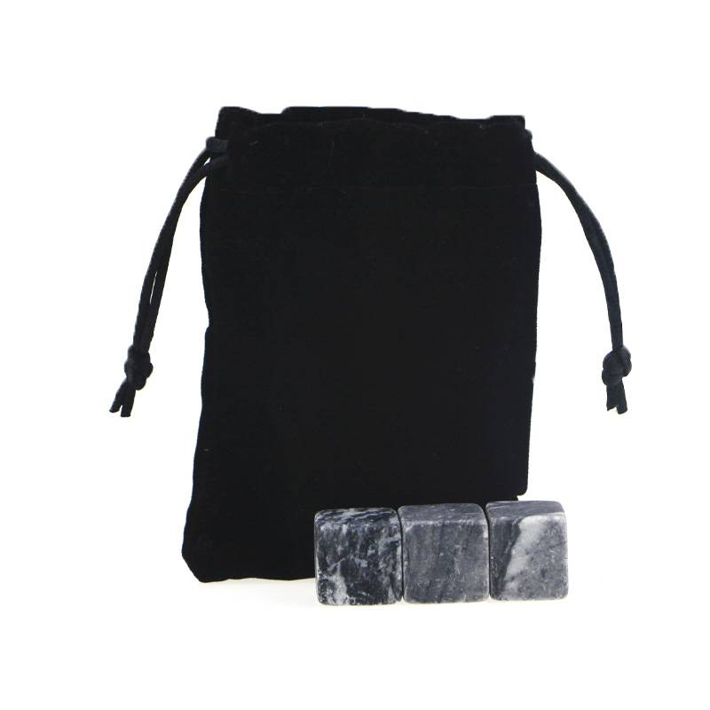 High quality whsiky set  Whiskey Stones with Black Velvet bag Featured Image