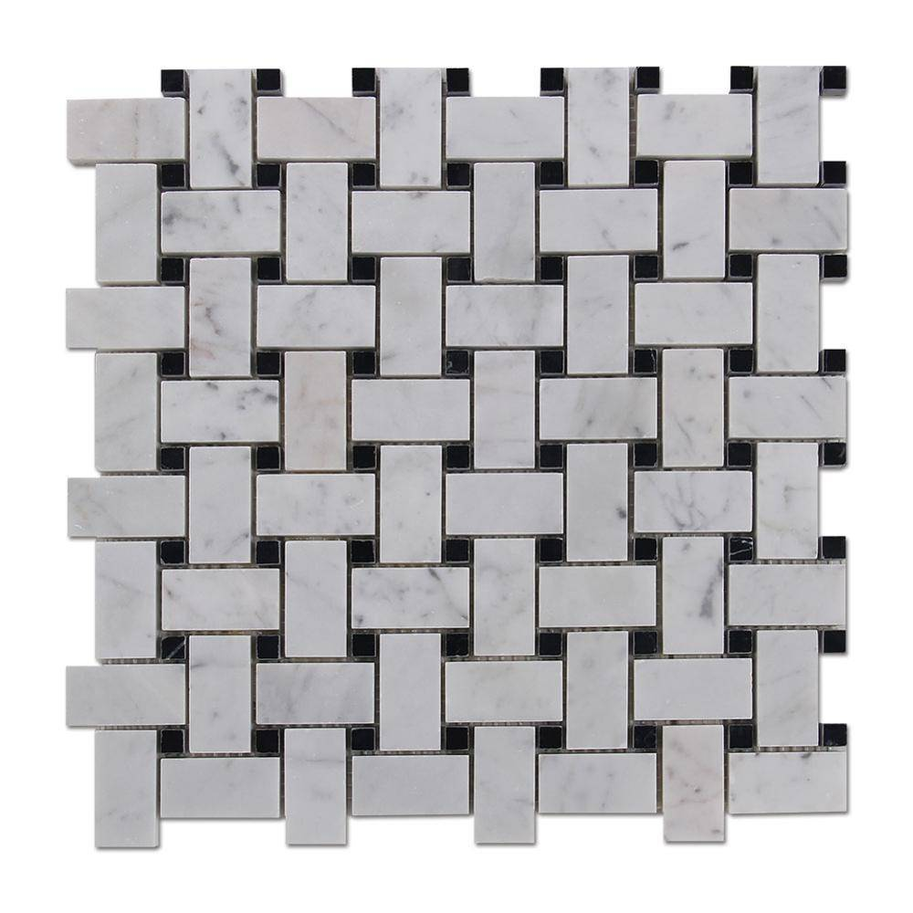 Cheap Mosaic Tile Sheets Mosaic Marble Basketweave Marble Tile Featured Image