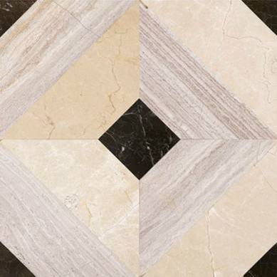 Waterjet Polished and Customized Marble Medalion Floor Tile Design(Direct Factory)
