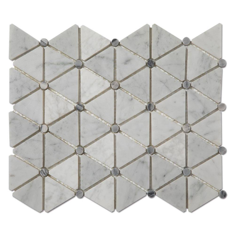 Soft Triangle White Carrara Marble Mosaic Tiles For Kitchen or Backsplash Featured Image