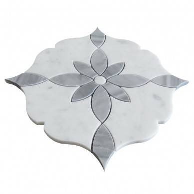 White Flower Pattern Kitchen Wall And Floor Mosaic