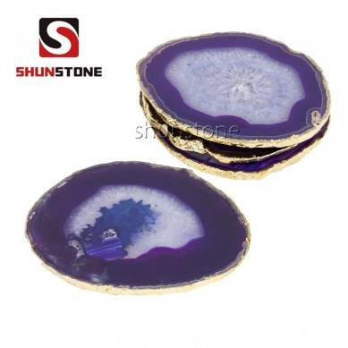 Home Accessories color real jade cup Coaster luxury crystal agate coaster