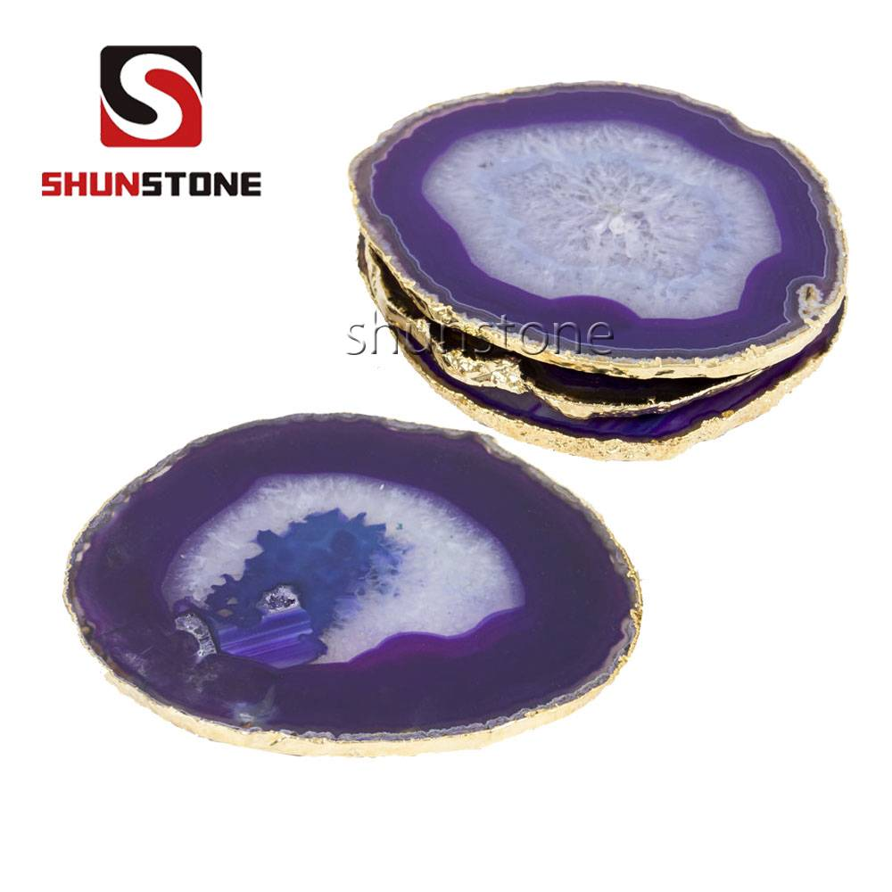 Home Accessories color real jade cup Coaster luxury crystal agate coaster Featured Image