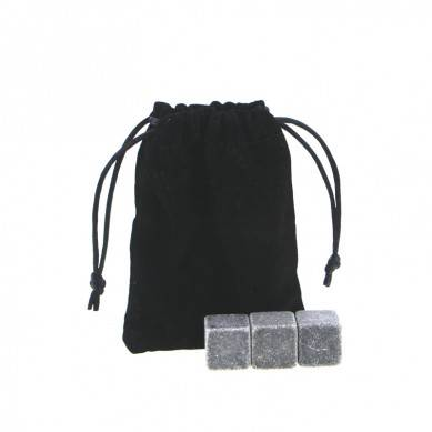 Customized High quality Chilling Stones set with Black Velvet bag