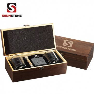Shunstone Quality Guarantee Whiskey Stones Glasses Gift set Real Rocks for Drinking No meil No water Better Than Ice