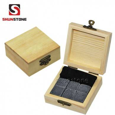6pcs of high quantity and low price of chilling Stone Set with Velvet Bag small stone gift set