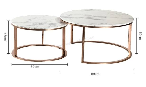 Rose gold artificial marble small end table Featured Image