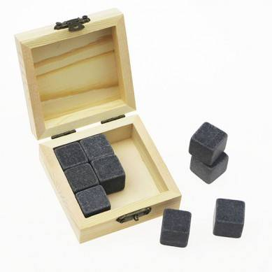 popular Product Bar Tools Gift Item New Whiskey Rock Stone Cube Whisky Chilling Ice Cube Ice Stone Creative Gift Set
