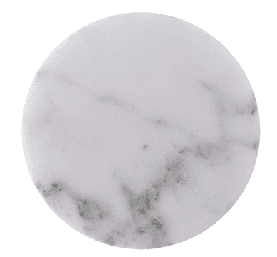 SHUNSTONE Set of 6 – White Marble Stone Coasters – Polished Coasters – 3.5 Inches (9 cm) in Diameter – Protection from Drink Rings