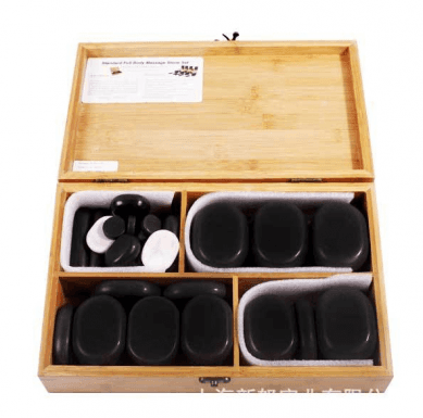 hot stone massage set Professional Portable Massage Stone  Kit with Hot Rocks Massage Therapy basalt Stones for spa
