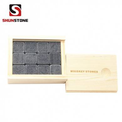 12 pcs of Whiskey Stones Gift Set to Keep Your Drink Pristine Hotselling Gift Set with Diamond Shape Basalt Stone best Bar Accessories