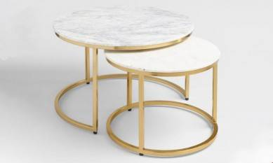 Rose gold artificial marble small end table