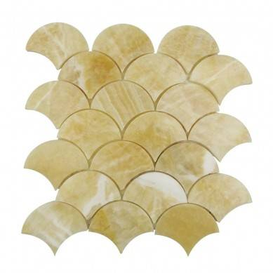 fish scale marble mosaic tile for bathroom floor decor
