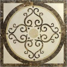 High quality Water Jet Floor Design Marble Medallion Stone Medallion Stone Pattern Marble Inlay Waterjet Marble Borders Factory