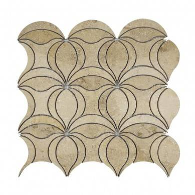 new design germany beige waterjet mosaic tile for wall decorative