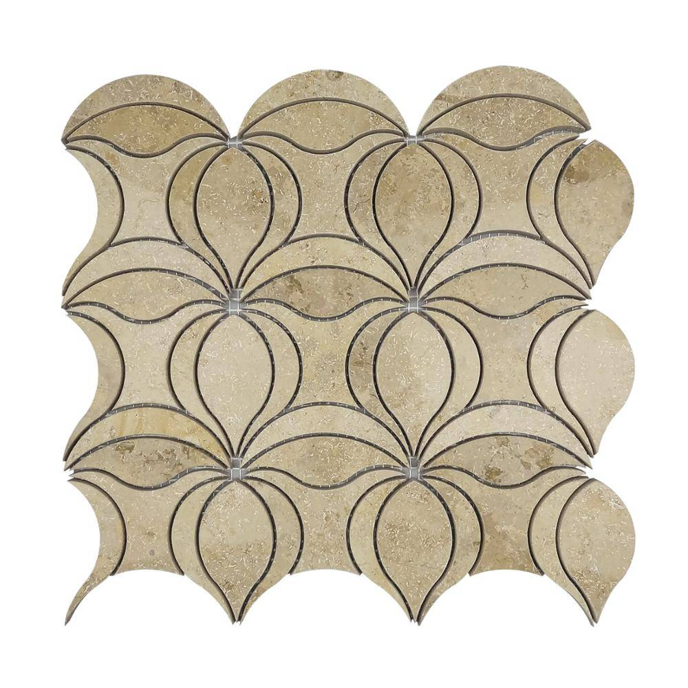 new design germany beige waterjet mosaic tile for wall decorative Featured Image