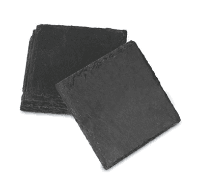 SHUNSTONE Amazon hot selling 4-Inch by 4-Inch Slate Coaster, Set of 4