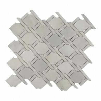 water jet stone tile white marble mosaic tile floor tile design