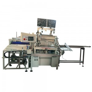 Auto flat screen printing machine with Dust electrostatic and positioning system