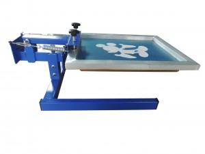 single color screen printing machine