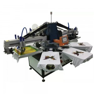 3 color 8 stations automatic T shirt silk screen printing machine