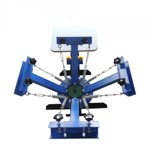 4 color 1 station screen printing machine