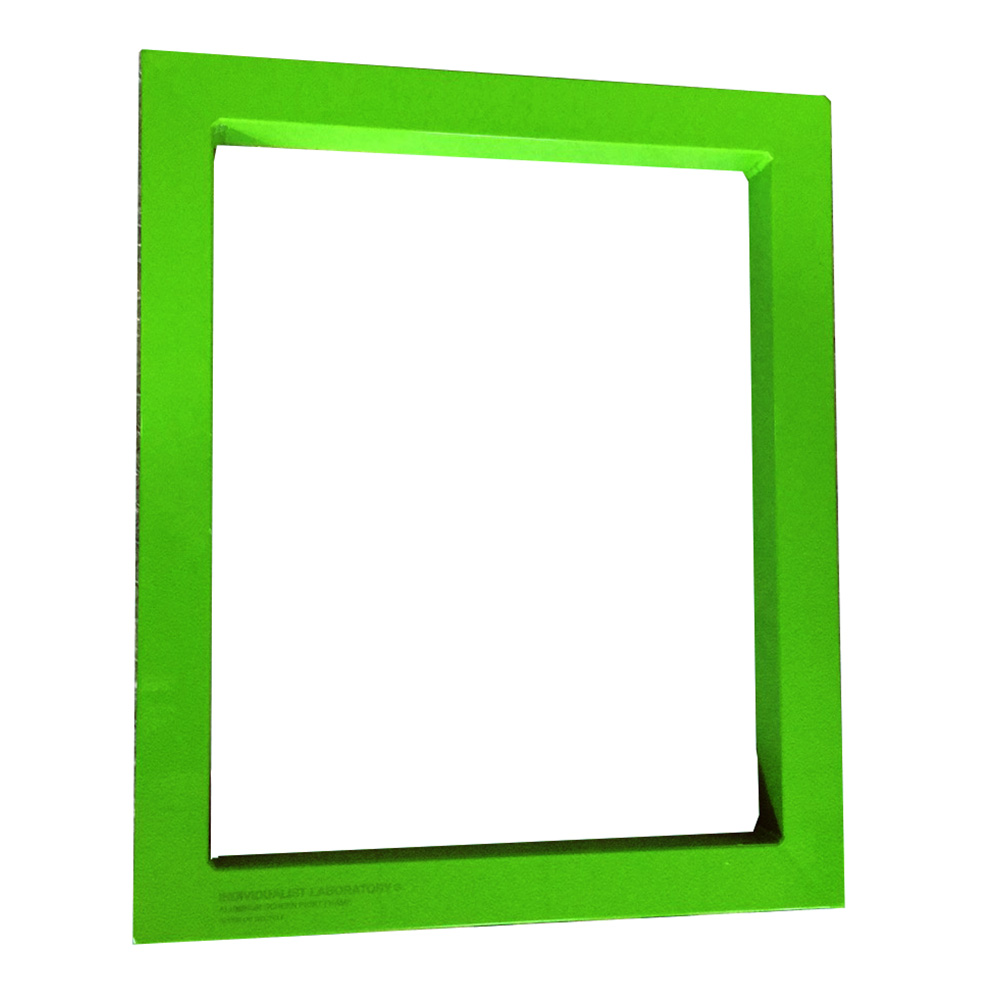 Aluminum screen printing frame-Green paint spraying Featured Image