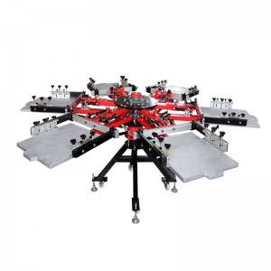 Manual carousel screen printing machine