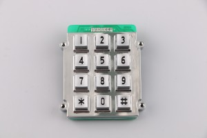 Industrial anti-vandalism atm rs232 4×3 keypad-B518