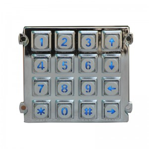 LED Industrial metallu Retroilluminato keypad-B660