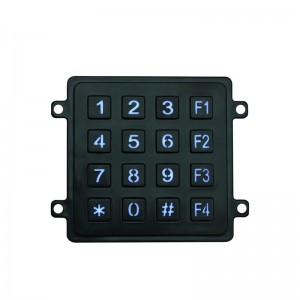 LED backlit 4×4 plastic keypad for access control system-B201