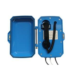 Blue Dustproof Dispatching System Telephone
