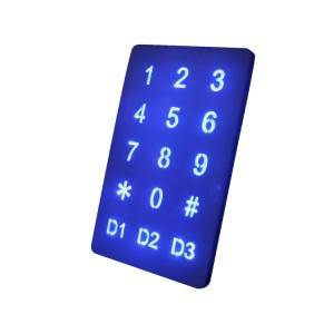 USB 3*5 stainless steel anti-vandalism optical-touch keypad-B809