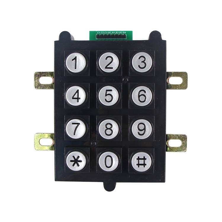 3×4 12keys vandalproof round button plastic keypad for entry systemB102 Featured Image