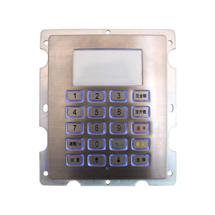 4×5 stainless steel LED illuminated metal keypad for access control system B802 Featured Image