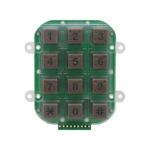 3×4 matrix numeric led Illuminated plastic 12 keys waterproof industrial keypad B202